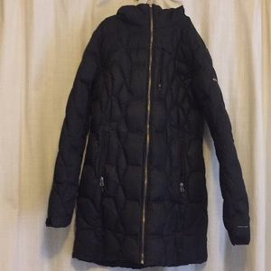 Columbia Puffy Down Feather Long Jacket Medium